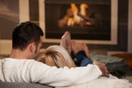 couple-fireplace