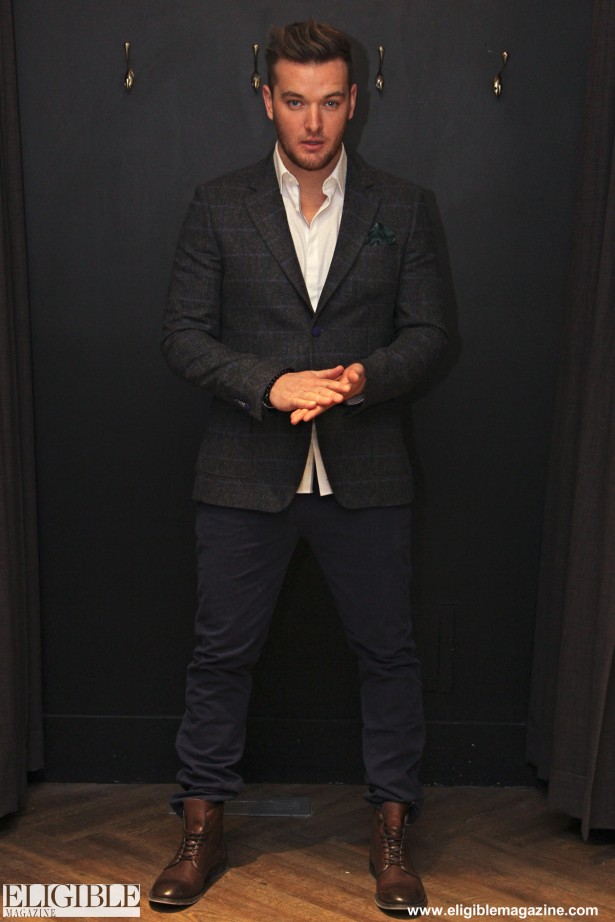 Vito Navy Cotton Chinos $98 - H by Hudson Leather Boots $358