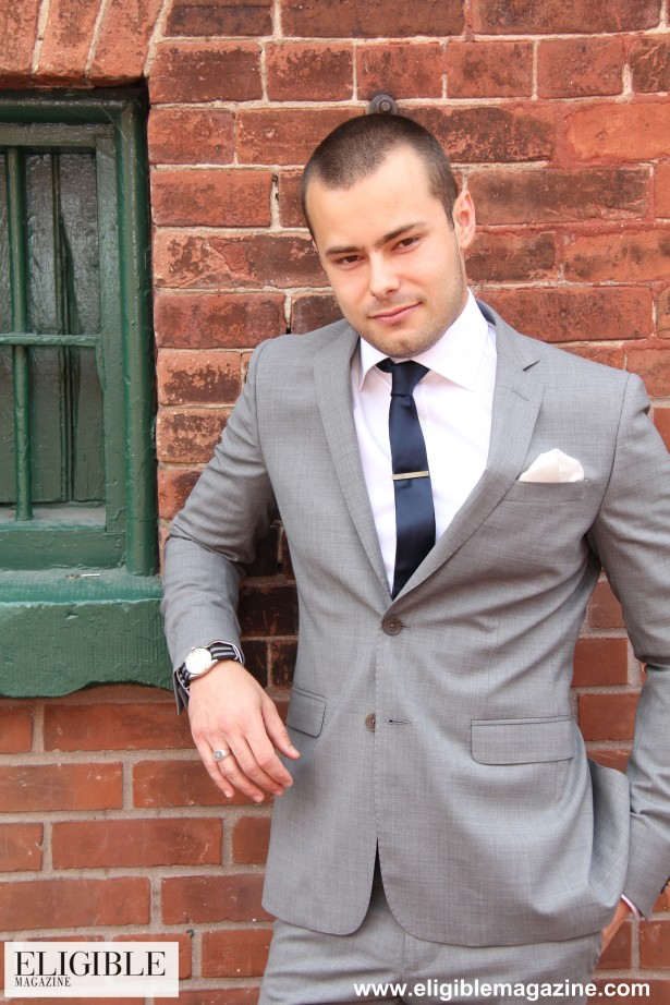 Hilton Stretch Wool Solid Suit - $895 - Stenstroms Basic FC Dress Shirt - $195 - GotStyle Silt Style Navy Tie - $35