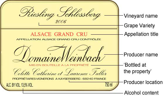judge a wine by its label