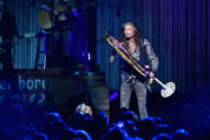 """NEW YORK, NY - MAY 02:  Steven Tyler performs on stage during  """"Steven Tyler...Out on a Limb"""" Show to Benefit Janie's Fund in Collaboration with Youth Villages at David Geffen Hall on May 2, 2016 in New York City.  (Photo by Theo Wargo/Getty Images for M2M Construction)"""